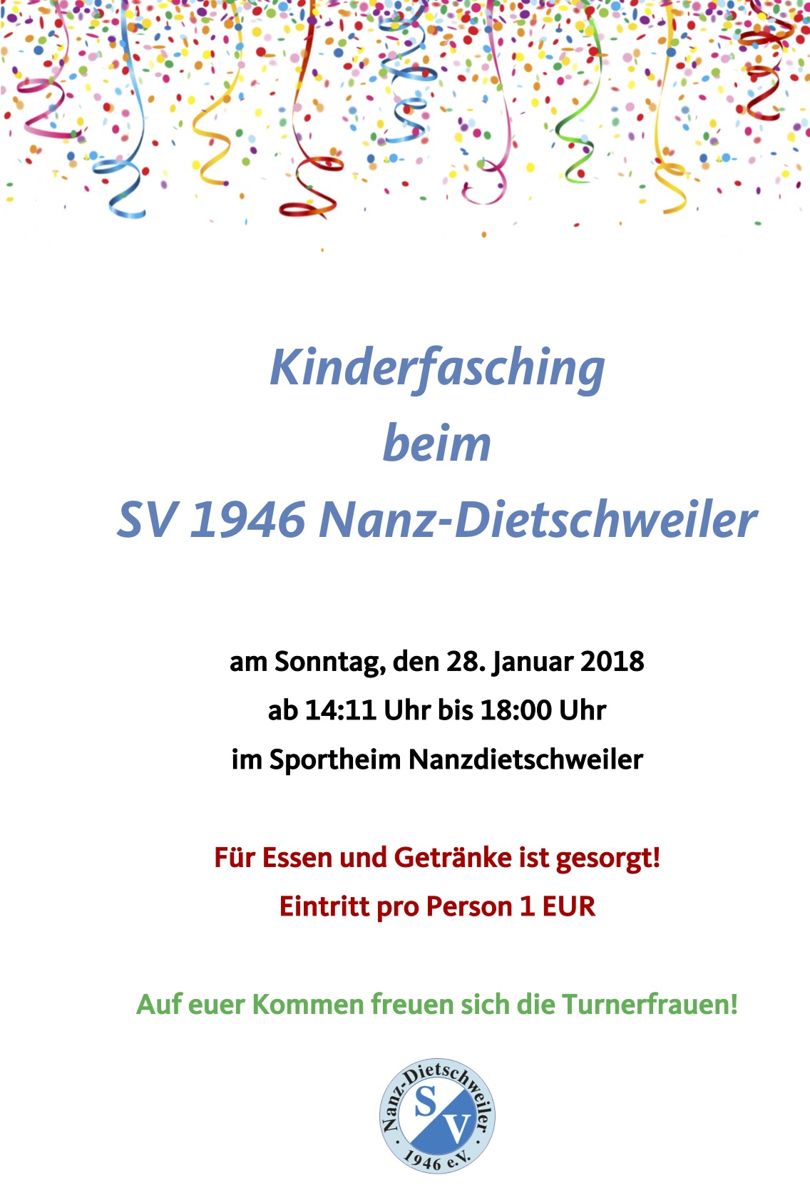 2018 01 28 Flyer Kinderfasching